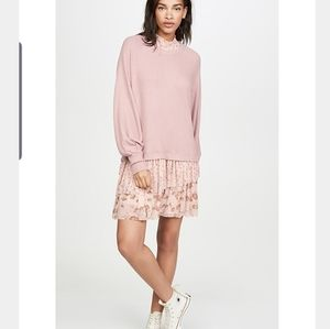 Free People Opposites Attract Mini Dress